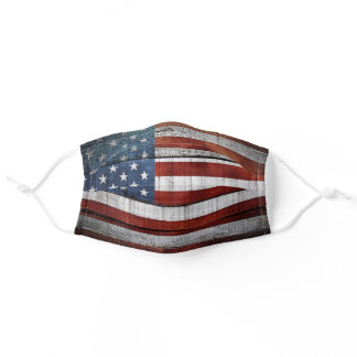 US Flag American Flag Red White Blue Stripes Stars Adult Cloth Face Mask