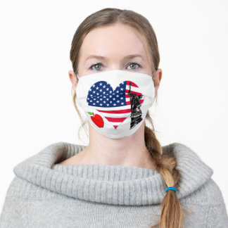 US Flag Heart, Liberty and Big Apple Adult Cloth Face Mask
