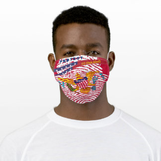 US Virgin Islands w/ Stars Stripes on Red Adult Cloth Face Mask