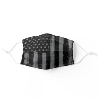 USA American Flag Gray Black Adult Cloth Face Mask
