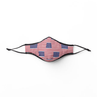 USA American Flag Pattern National Patriotic Day Premium Face Mask