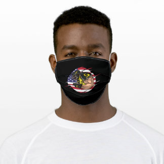 USA American Football Player In Action Adult Cloth Face Mask