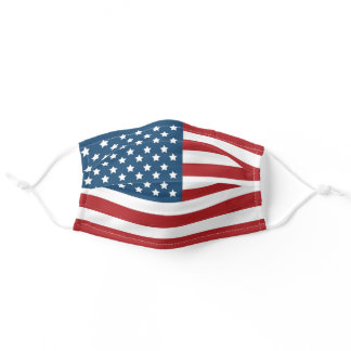 USA American Patriotic Flag Adult Cloth Face Mask
