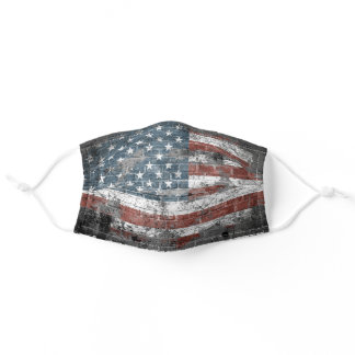 USA American Patriotic Flag Grunge Adult Cloth Face Mask