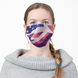 USA and UK flags Adult Cloth Face Mask
