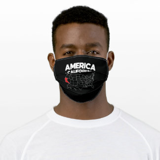 USA gift California State Adult Cloth Face Mask