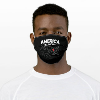 USA gift Illinois State Adult Cloth Face Mask