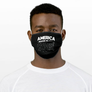USA gift Rhode Island State Adult Cloth Face Mask