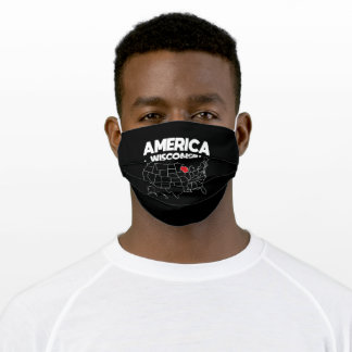 USA gift Wisconsin State Adult Cloth Face Mask