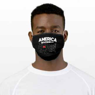 USA gift Wyoming State Adult Cloth Face Mask