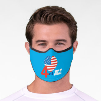 USA Independence Day 4th of JULY American Flag Premium Face Mask