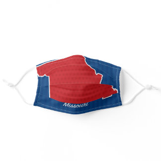 USA Missouri State Stars and Stripes Map Adult Cloth Face Mask