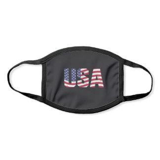 USA stars and stripes face mask