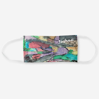 Use Your Own Colorful Abstract Art and Name Adult Cloth Face Mask