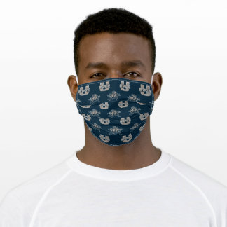 Utah State University Aggie Blue Pattern Adult Cloth Face Mask