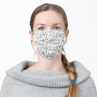 Vacation In Europe Pattern Adult Cloth Face Mask