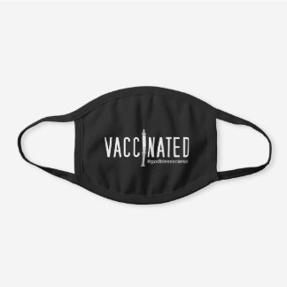 Vaccinated God Bless Science Black Cotton Face Mask