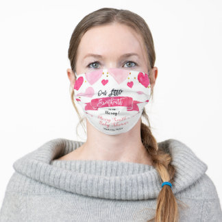 Valentine Baby shower Our Little Sweetheart Adult Cloth Face Mask