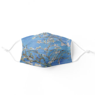 "Van Gogh, "" Almond Blosoms "" 2 Adult Cloth Face Mask"