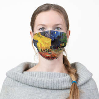 Van Gogh Cafe Terrace on Place du Forum, Fine Art Adult Cloth Face Mask