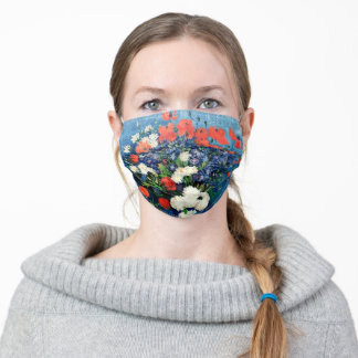 Van Gogh famous painting, Vase with Cornflowers Adult Cloth Face Mask