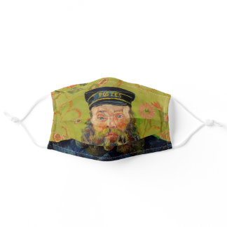 Van Gogh Postman. Portrait impressionism art Adult Cloth Face Mask