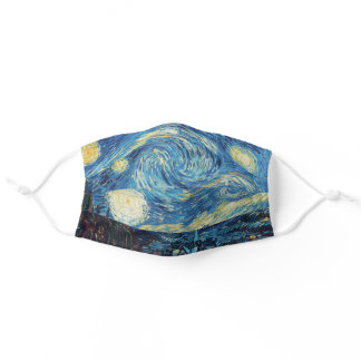 Van Gogh Starry Night Impressionist Painting Adult Cloth Face Mask