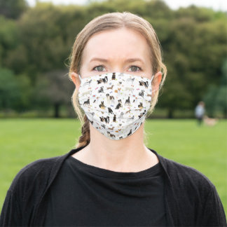 Various Dogs Pattern Adult Cloth Face Mask