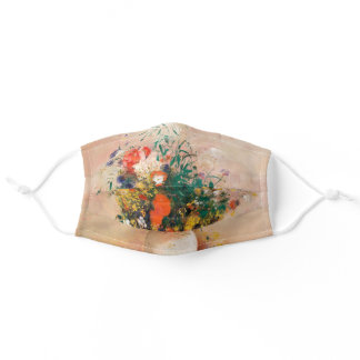 Vase of Flowers by Redon Post-Impressionist Adult Cloth Face Mask
