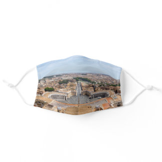 Vatican, Italy: St. Peter's Square aerial view Adult Cloth Face Mask