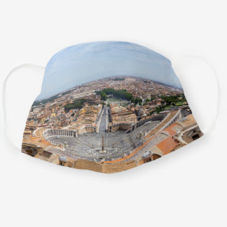 Vatican, Italy: St. Peter's Square aerial view Cloth Face Mask