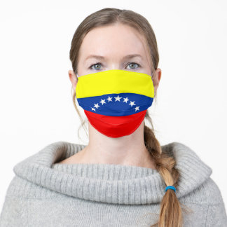 Venezuela flag country flag symbol nation ethnic adult cloth face mask