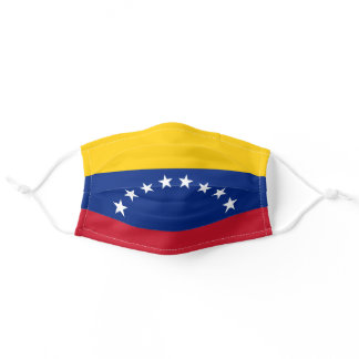 Venezuelan flag adult cloth face mask