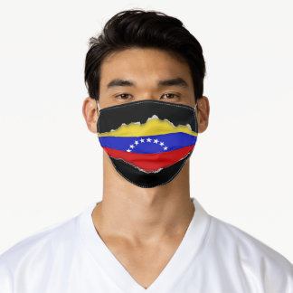 Venezuelan Flag | Faux Torn Out Look Adult Cloth Adult Cloth Face Mask