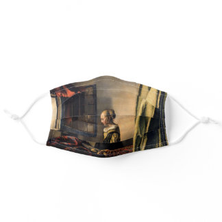 Vermeer - Girl Reading a Letter at an Open Window Adult Cloth Face Mask