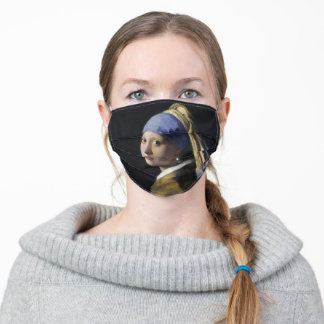 Vermeer Girl with a Pearl Earring Adult Cloth Face Mask