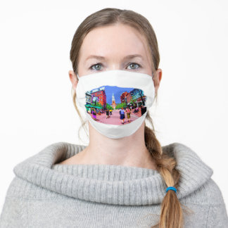 Vermont Street Painting Adult Cloth Face Mask