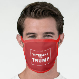 VETERANS FOR TRUMP 2020 FACE MASK