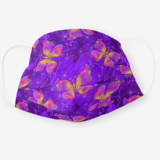 Vibrant Butterfly Pattern Cloth Face Mask