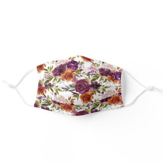 Vibrant Floral Adult Cloth Face Mask