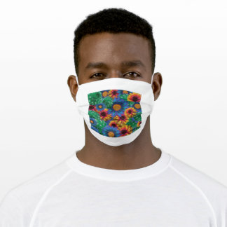 Vibrant Flowers - Colorful Floral Adult Cloth Face Mask
