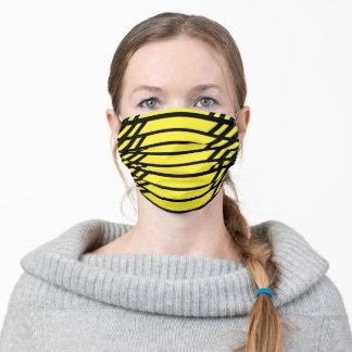 Vibrant Safety Yellow Adult Cloth Face Mask