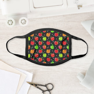 Vibrant Watercolor Apples Pattern Face Mask