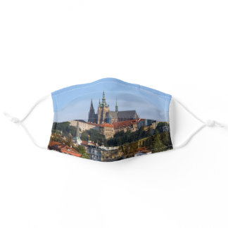 View of old town and Prague castle, Czech Republic Adult Cloth Face Mask