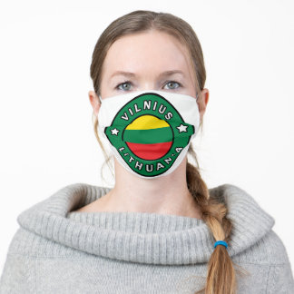 Vilnius Lithuania Adult Cloth Face Mask