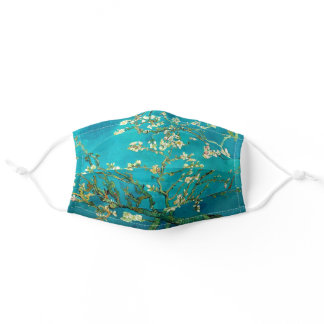 Vincent Van Gogh Blossoming Almond Tree Floral Art Adult Cloth Face Mask