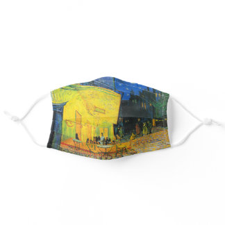 Vincent Van Gogh Cafe Terrace At Night Fine Art Adult Cloth Face Mask
