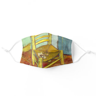 Vincent Van Gogh Chair with Pipe Adult Cloth Face Mask