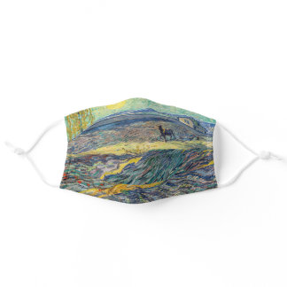 Vincent van Gogh - Field with plowing farmers Adult Cloth Face Mask