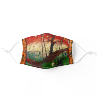 Vincent van Gogh - Flowering Plum Tree Adult Cloth Face Mask